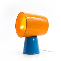 Lamp Bucket orange and blue